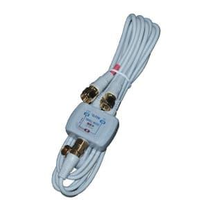 マックステル 【生産完了品】CS/BS/地デジ対応 分波器 出力側:S2.5CFBケーブル50cm 入力側:S2.5CFBケーブル1.5m DCW-72GL-EP