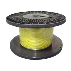 電気機器用ビニル絶縁電線 100m巻 黄 KIV3.5SQ×100mキイロ