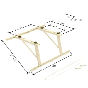 日晴金属 クーラーキャッチャー 傾斜屋根用 ZAM®+粉体塗装 C-YUG