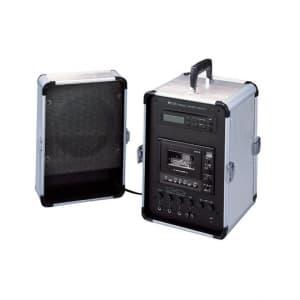 TOA 【生産完了品】移動用PAアンプ 20W CDプレーヤー内蔵 スピーカー付 ダイバシティチューナーユニット(WT-1820)1台内蔵 KZ-25