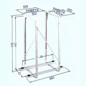 日晴金属 PCキャッチャー 天井吊用 溶接亜鉛メッキ仕上 PC-DG30