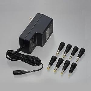 ヤザワ ACアダプター 定格出力DC3/4.5/6/7.5/9/12V 定格出力電流300mA ACM300
