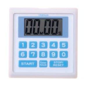 ヤザワ 防滴仕様 デジタルタイマー マグネット/時計機能/ストラップ付 ホワイト T34WH