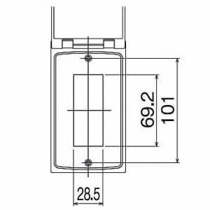 明工社 MLキー付 防滴プレート 3コ用 ML1683-K