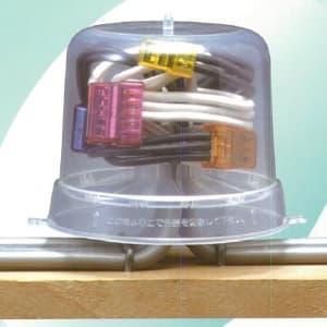 カワグチ 【生産完了品】屋内用透明ジョイントボックス 《ナイスハット Hタイプ》 10個入 ナイスハットH