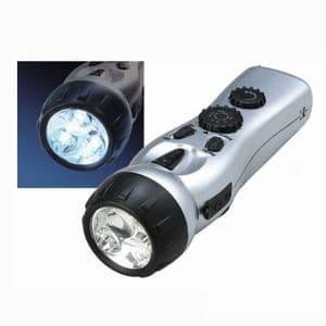 ジェフコム 【生産完了品】手回し充電式 ラジオ&LEDライト 携帯電話充電機能付 PLL-EM1