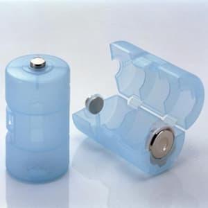 旭電機化成 単3が単1になる電池アダプター 2個入 ブルー ADC-310BL