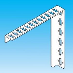 因幡電工 L型ブラケット 縦・横長穴付 長さ:150mm 表面処理:溶融亜鉛メッキ仕上げ(HDZ35) LB-1T15