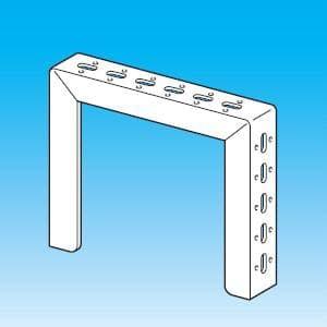 因幡電工 門型ブラケット 横長穴付 表面処理:溶融亜鉛メッキ仕上げ(HDZ35) MB-255