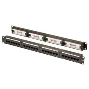 ヘラマンタイトン 【生産完了品】パッチパネル 24ポート Cat5e 固定式 EIA規格1U用 PP24C5EN