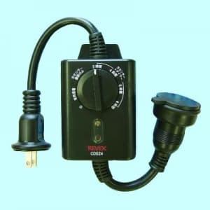 リーベックス 光センサー付タイマーコンセント 防雨型 屋外用 CDS24