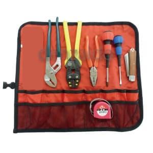 電気工事士 技能試験工具セット 標準工具7点セット 巻き式タイプ MDK-17SM