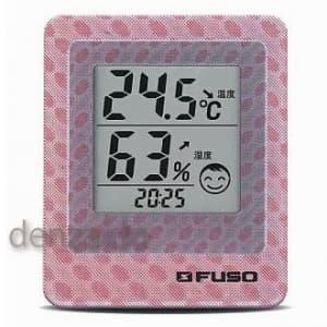 FUSO 卓上デジタル温湿度・環境3Dモニタ ピンク BTH-300P