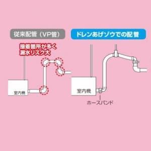 因幡電工 継手付き断熱ドレンホース エルボ×エルボ ホース長:700mm 適合VP管:A-25A/B-25A 継手付き断熱ドレンホース エルボ×エルボ ホース長:700mm 適合VP管:A-25A/B-25A DSH-UP25E25E-07 画像3