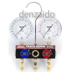 R404A/R407Cボールバルブ式ハイブリッドゲージマニホールド 冷暖兼用 TA124NKH-1
