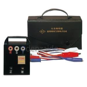 長谷川電機工業 【生産完了品】低電圧用検相器 接触式 三相 AC100〜600V 収納ケース付 PC-2