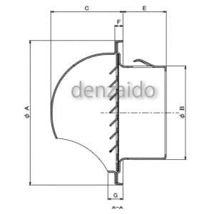 バクマ工業 丸型フード付換気口 開口部:小 アミ付 取付穴付 ステンレス製 アイボリー 150φ用 丸型フード付換気口 開口部:小 アミ付 取付穴付 ステンレス製 アイボリー 150φ用 B-150MVS-A-P-I 画像3