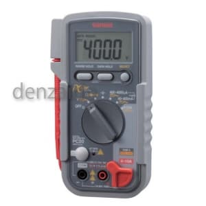三和電気計器 デジタルマルチメータ 8ファンクション 直流電圧/電流 交流電圧/電流 抵抗 コンデンサ容量 導通 ダイオードテスト PC20