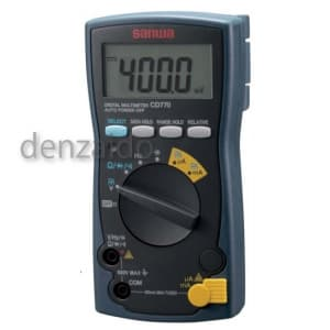 三和電気計器 デジタルマルチメータ 9ファンクション 直流電圧/電流 交流電圧/電流 抵抗 コンデンサ容量 周波数 導通 ダイオードテスト CD770