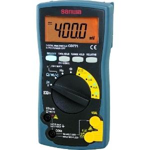 三和電気計器 デジタルマルチメータ 10ファンクション 直流電圧/電流 交流電圧/電流 抵抗 コンデンサ容量 周波数 導通 ダイオードテスト バッテリーチェック CD771