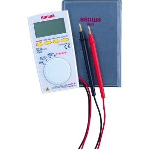 三和電気計器 デジタルマルチメータ 薄型ポケットタイプ 8ファンクション 直流電圧 交流電圧 抵抗 コンデンサ容量 周波数 デューティ比 導通 ダイオードテスト PM3
