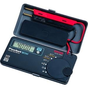 三和電気計器 デジタルマルチメータ ポケットタイプ 5ファンクション 直流電圧 交流電圧 抵抗 導通 ダイオードテスト PM7a