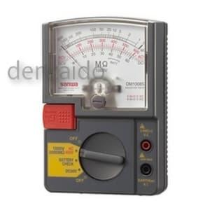 三和電気計器 【生産完了品】絶縁抵抗計 アナログ 自動放電機能 単レンジ式 定格電圧:1000V 抵抗測定:2000MΩ DM1008S