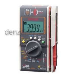 三和電気計器 絶縁抵抗計 ハイブリッドミニテスタ ケース付属 3レンジ式 定格電圧:125/250/500V 抵抗測定:40MΩ DG35a/C