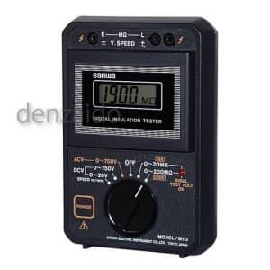 三和電気計器 絶縁抵抗計 エレベータ保守管理用 2レンジ式 定格電圧:15/500V 抵抗測定:200MΩ M53