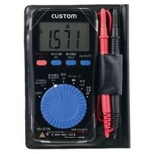 カスタム デジタルマルチメータ 測定機能(直流・交流電圧、抵抗、導通チェック、ダイオードテスト、周波数、DUTYチェック、リラティブ機能、コンデンサチェック) M-01N