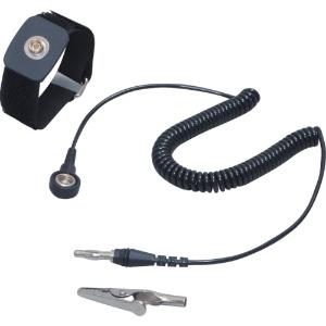 カスタム 防静電リストストラップ グランドコード1.8m マジックテープ式 AS-101-6