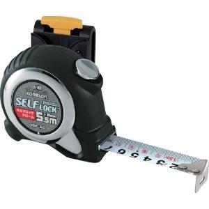 コメロン コンベックス セルフロッククローム ベルトホルダー付 19mm×5.5M オートストップ機能付 KMC-36CL 1202660