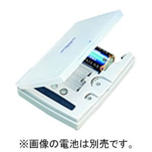東芝 バッテリーチェッカー 単1形〜単5形/9V形/リチウムパック/アルカリボタン/コイン形リチウム電池対応 TBC-30(W)
