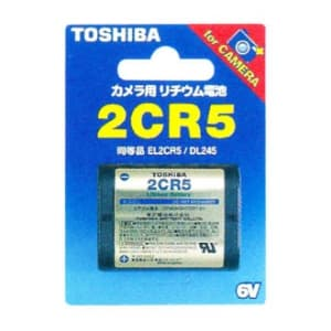 東芝 カメラ用リチウム電池 6V 30mA 1400mAh 1個入 2CR5G