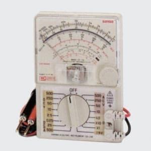 タスコ アナログテスタ ミラー付ワイドスケール テストリード固定式 携帯用ケース付 TA452CH
