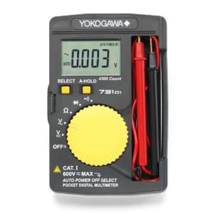 タスコ デジタルマルチメータ クリアケース一体型 4300カウント表示 オートホールド・オートパワーオフ機能付 TA452E-5