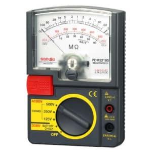 タスコ 3レンジ絶縁抵抗計 ディスチャージ機能搭載 インナーバッテリーチェック機能付 TA453PD