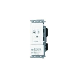 パナソニック エアコン用埋込スイッチ付コンセント 15A・20A兼用アースターミナル付接地コンセント 「入」「切」表示スイッチB ベージュ WTF19317F