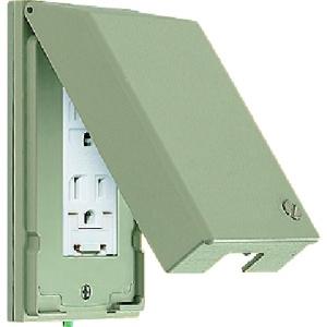 パナソニック ガードプレート 樹脂製 コンセント1コ用 取付枠付 WTF7971