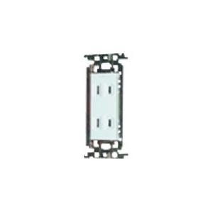 パナソニック 埋込ダブルコンセント 金属取付枠付 15A 125V ホワイト WTF1502WK