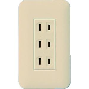 パナソニック 埋込トリプルコンセント 金属取付枠付 15A 125V ベージュ WTF13033FK