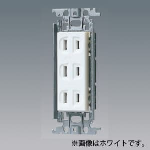 パナソニック 埋込トリプルコンセント 金属取付枠付 15A 125V グレー WTF13033HK