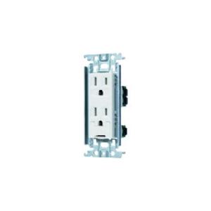 パナソニック 埋込アースターミナル付接地ダブルコンセント 金属取付枠付 フル端子S 15A 125V ホワイト WTF113238W