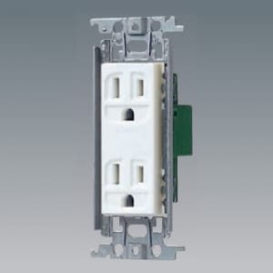 パナソニック 埋込接地ダブルコンセント 金属取付枠付 15A 125V ホワイト WTF13123WK