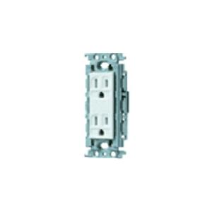 パナソニック 埋込接地ダブルコンセント 絶縁取付枠付 15A 125V ホワイト WTF13124WK