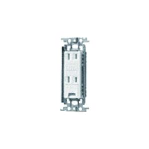 パナソニック 埋込アースターミナル付ダブルコンセント 金属取付枠付 15A 125V グレー WTF1532HK