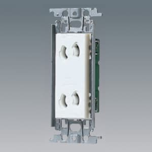 パナソニック 埋込抜け止めダブルコンセント 金属取付枠付 15A 125V ホワイト WTF10623WK