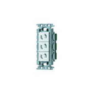 パナソニック 埋込抜け止めトリプルコンセント 絶縁取付枠付 15A 125V ホワイト WTF10634WK