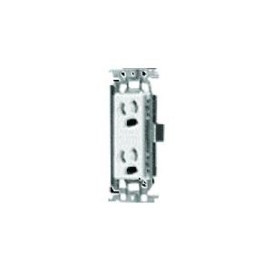 パナソニック 埋込抜け止め接地ダブルコンセント 金属取付枠付 15A 125V 利休色 WTF11623GK