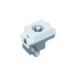 パナソニック 埋込高シールドテレビコンセント 端末用 1端子 電流通過形 10〜2602MHz ホワイト WCS4882WK
